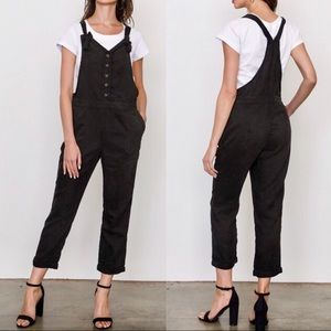 Denim - 'Jamey' Corduroy Black Overalls